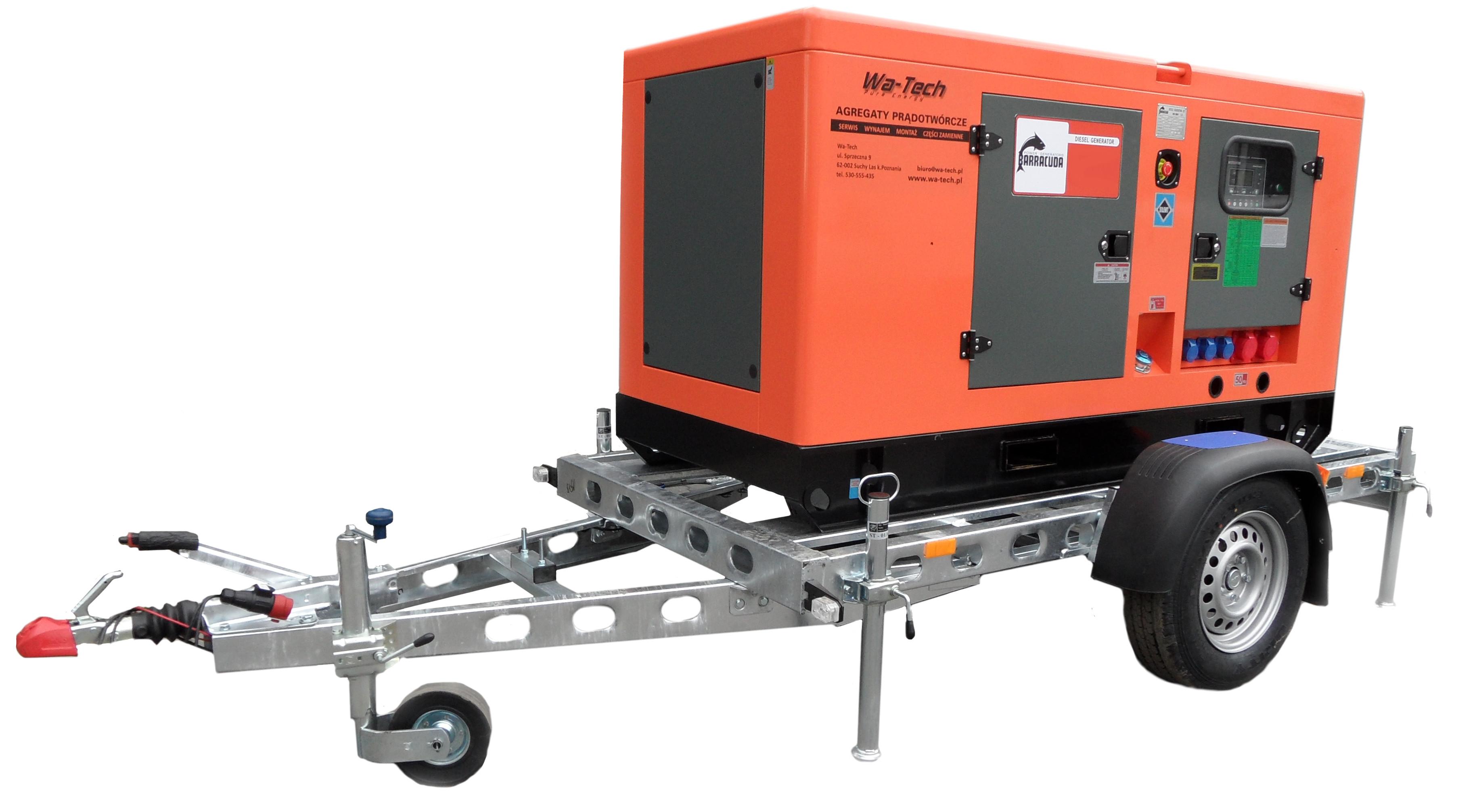 Genialny Agregat Diesel 40kW / 50kVA • Agregat prądotwórczy 40 kw | Wa-Tech OG82